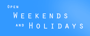 Open weekends and holidays